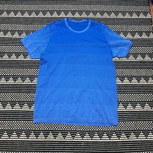 Lululemon Men's Blue Athletic Shirt